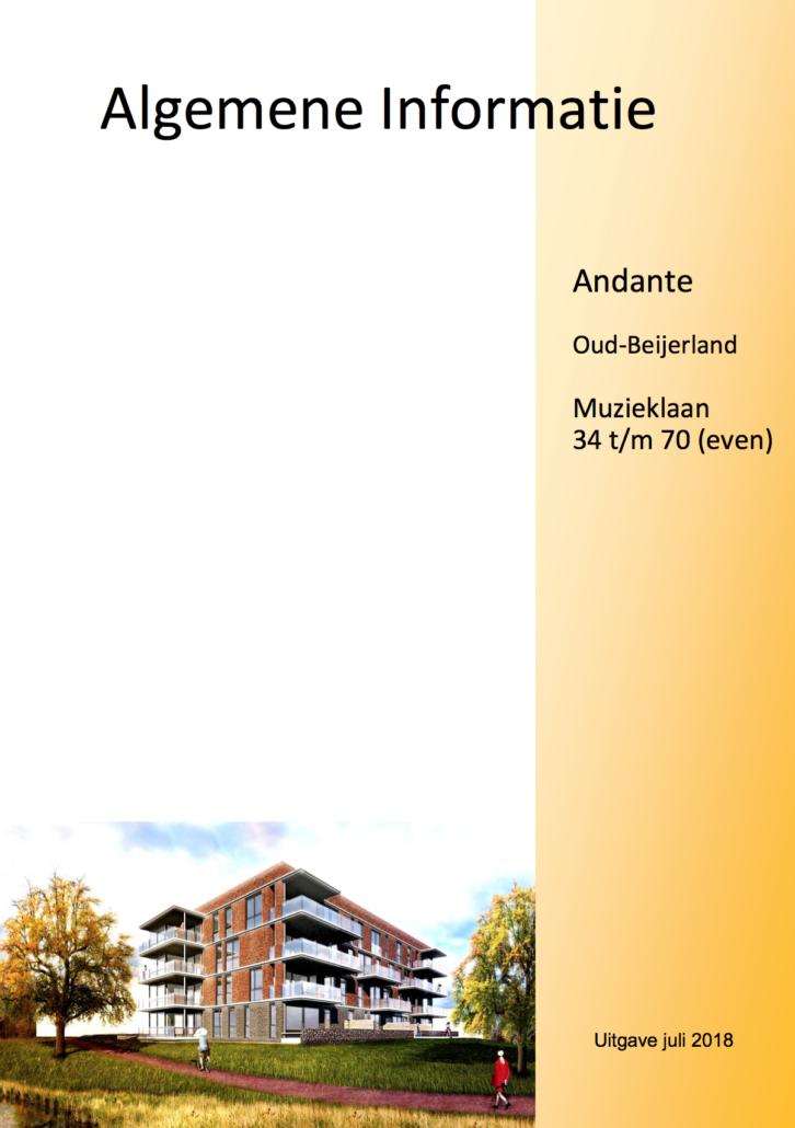 Andante Oud-Beijerland Muzieklaan 34 t/m 70 (even)